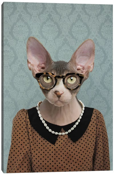 Shelly the Sphynx Cat Canvas Art Print