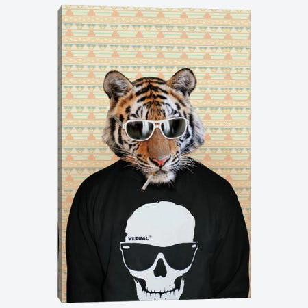 Trinny the Tiger Canvas Print #15493} by 5by5collective Canvas Art Print