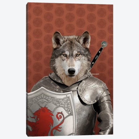 William the Wolf Canvas Print #15495} by 5by5collective Canvas Artwork