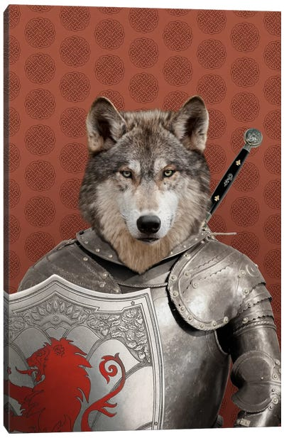 William the Wolf Canvas Art Print