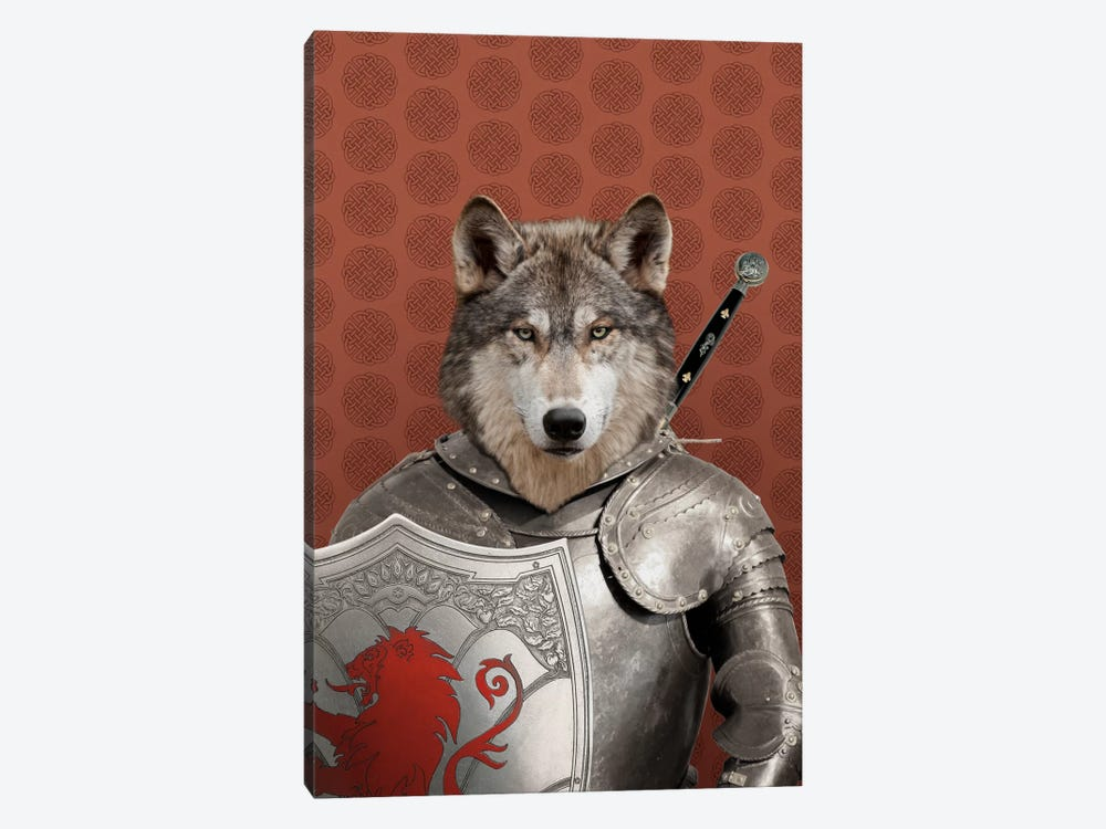 William the Wolf by 5by5collective 1-piece Canvas Art Print