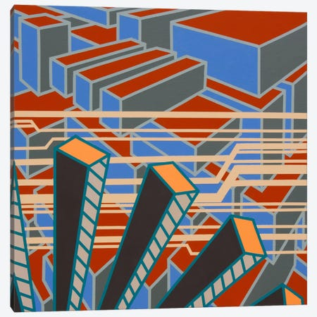 Lines Project #65 3-Piece Canvas #15507} by Eric Carbrey Canvas Wall Art