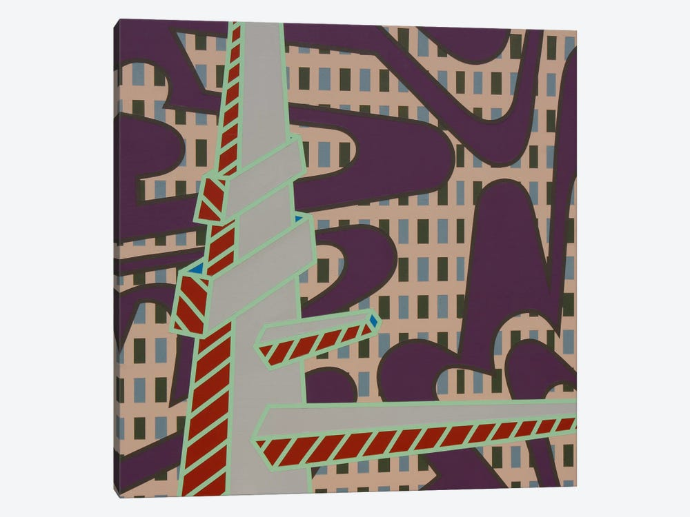 Lines Project #70 by Eric Carbrey 1-piece Canvas Art