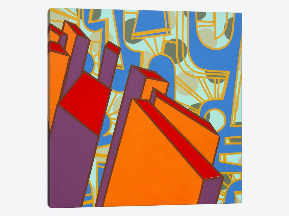 Lines Project #71 by Eric Carbrey 1-piece Canvas Art Print
