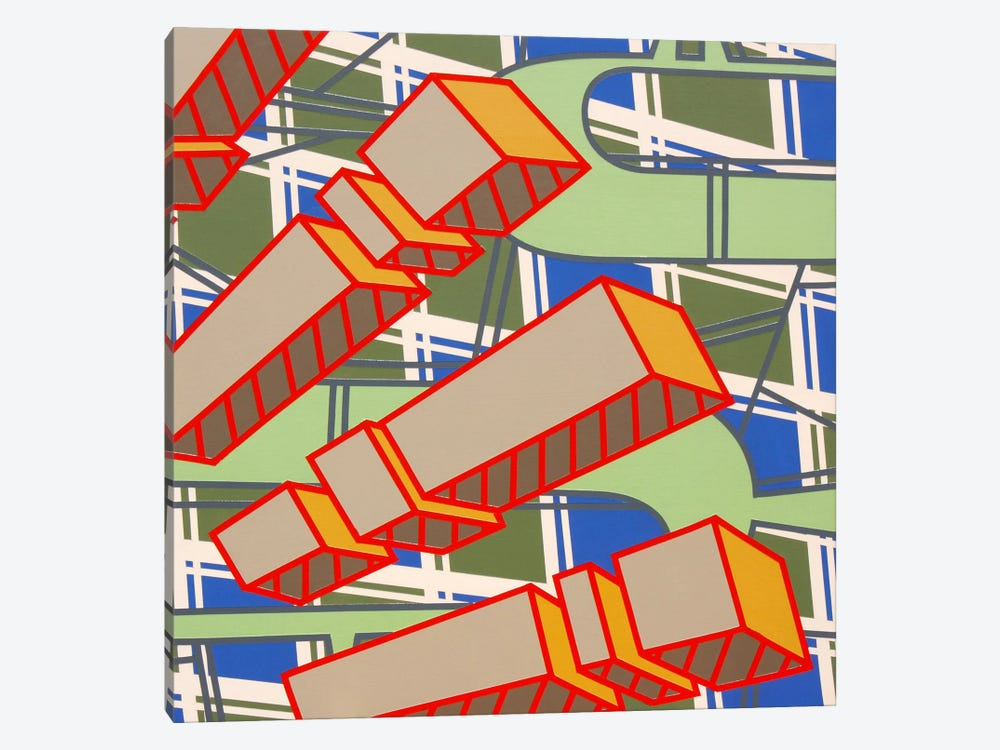Lines Project #78 by Eric Carbrey 1-piece Canvas Art Print