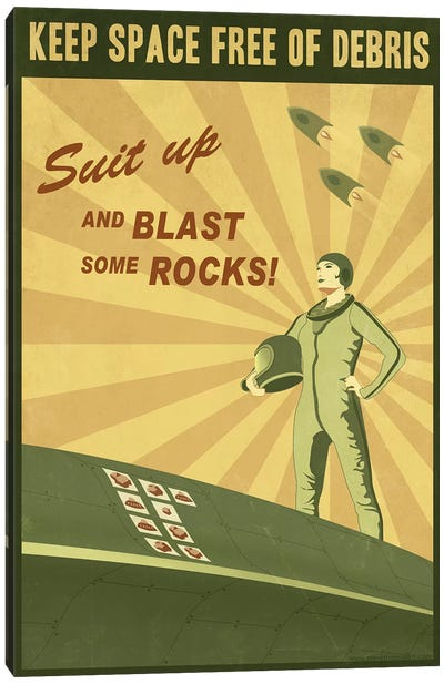 Blast Some Rocks Canvas Art Print