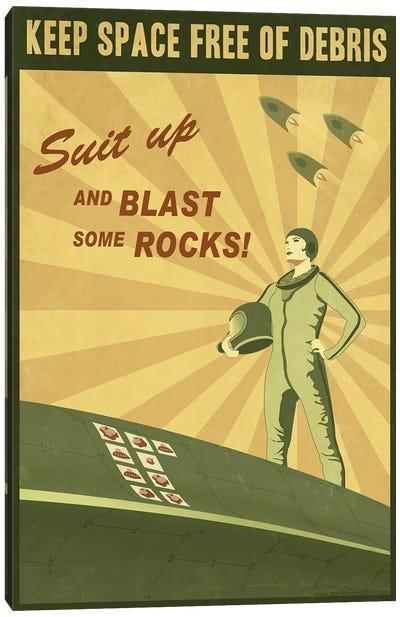 Blast Some Rocks Canvas Art Print