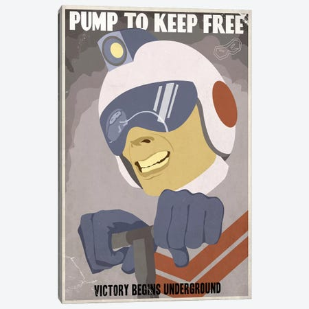 Pump to Keep Free Canvas Print #15527} by Steve Thomas Canvas Wall Art