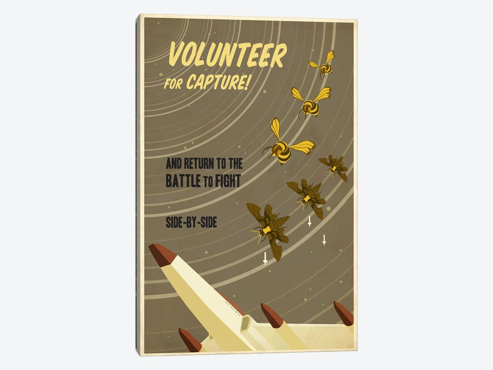 Volunteer for Capture by Steve Thomas 1-piece Art Print