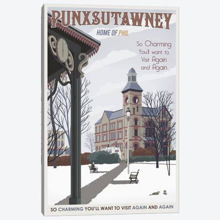 Punxsutawney Canvas Print #15533} by Steve Thomas Canvas Artwork