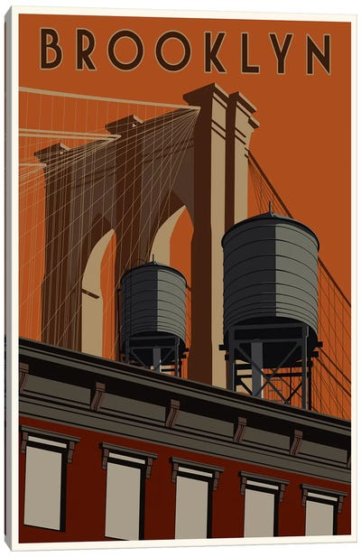 Brooklyn Travel Poster Canvas Print #15534