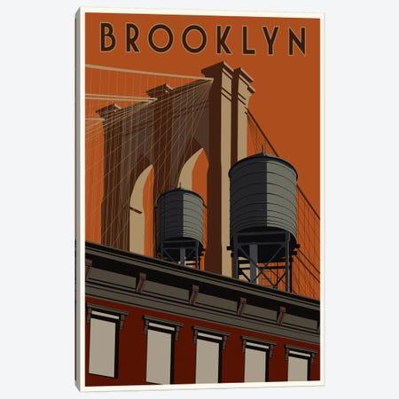 Brooklyn Travel Poster Canvas Print #15534} by Steve Thomas Art Print