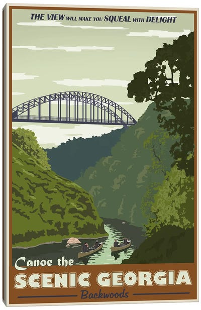Cahulawasee River Canvas Art Print