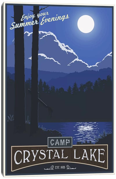 Camp Crystal Lake Canvas Art Print