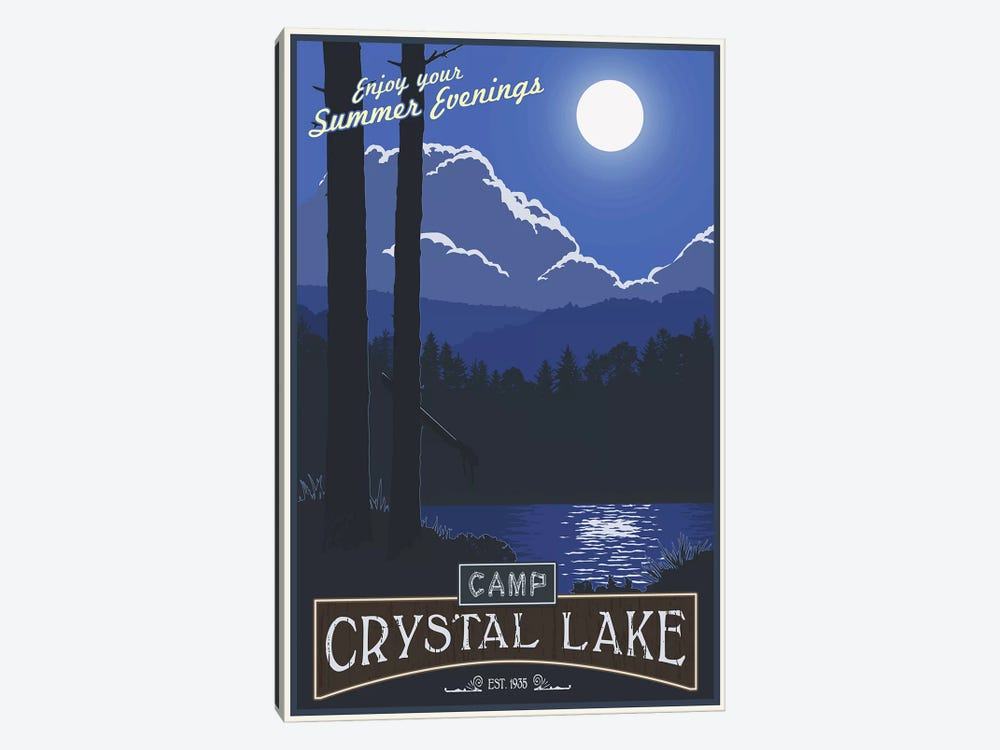 Camp Crystal Lake by Steve Thomas 1-piece Canvas Print