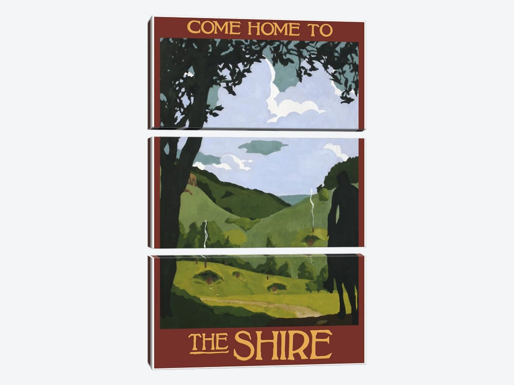 Come Home To The Shire by Steve Thomas 3-piece Canvas Wall Art
