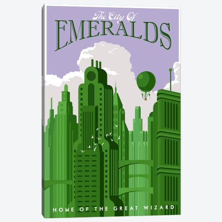 Emerald City Travel Canvas Print #15539} by Steve Thomas Canvas Artwork