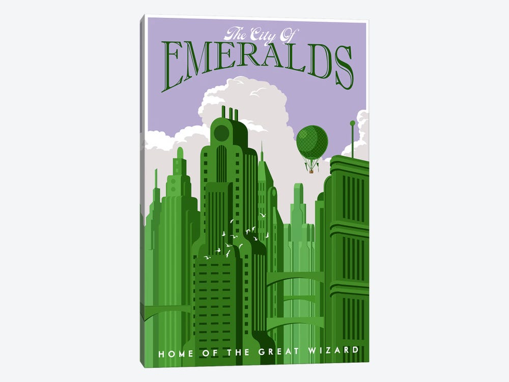 Emerald City Travel by Steve Thomas 1-piece Canvas Wall Art