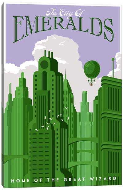 Emerald City Travel Canvas Art Print