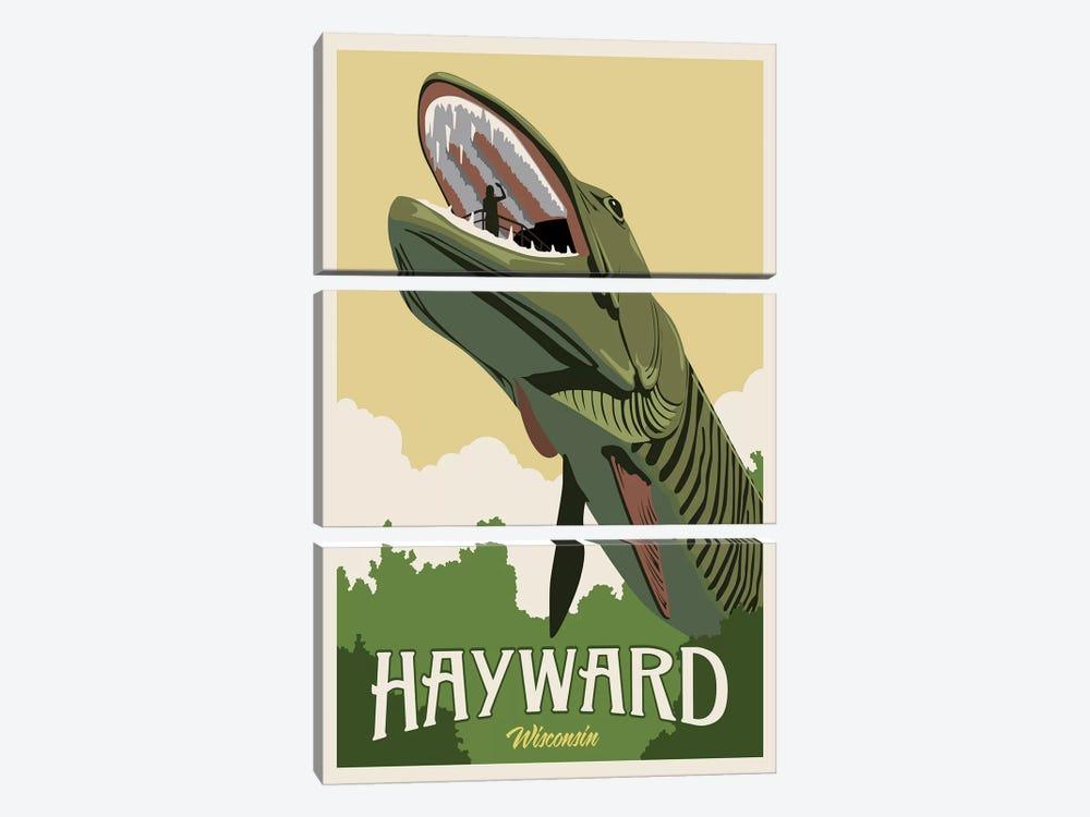 Hayward Muskie by Steve Thomas 3-piece Canvas Wall Art