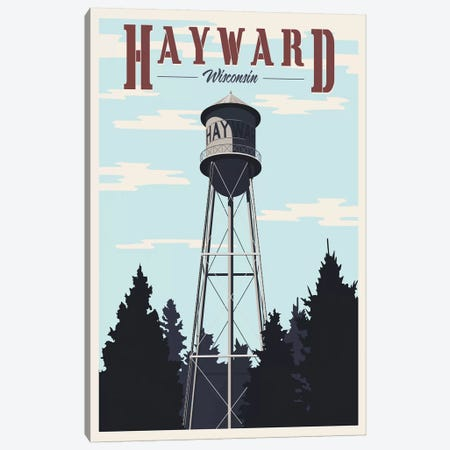 Hayward Water Tower Canvas Print #15541} by Steve Thomas Canvas Art Print