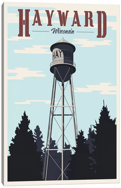 Hayward Water Tower Canvas Art Print
