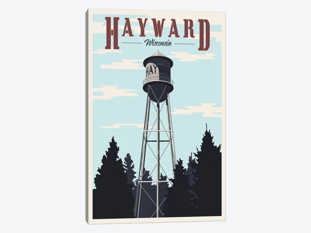 Hayward Water Tower by Steve Thomas 1-piece Canvas Print