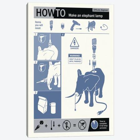 How To Build An Elephant Lamp 3-Piece Canvas #15543} by Steve Thomas Canvas Art Print