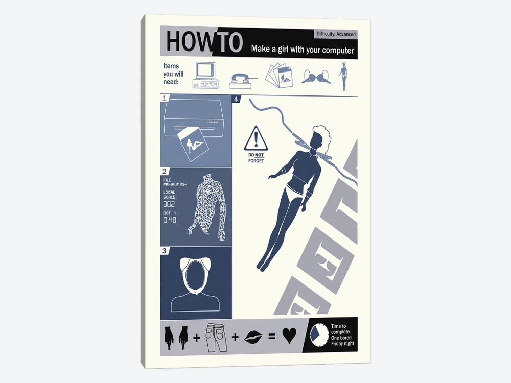 How To Create A Woman by Steve Thomas 1-piece Canvas Artwork