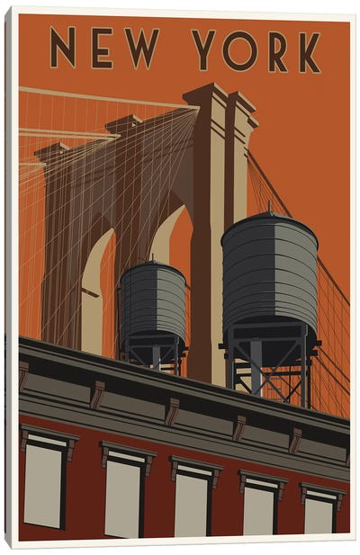 New York Travel Poster Canvas Art Print