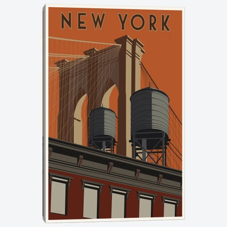 New York Travel Poster Canvas Print #15547} by Steve Thomas Canvas Artwork