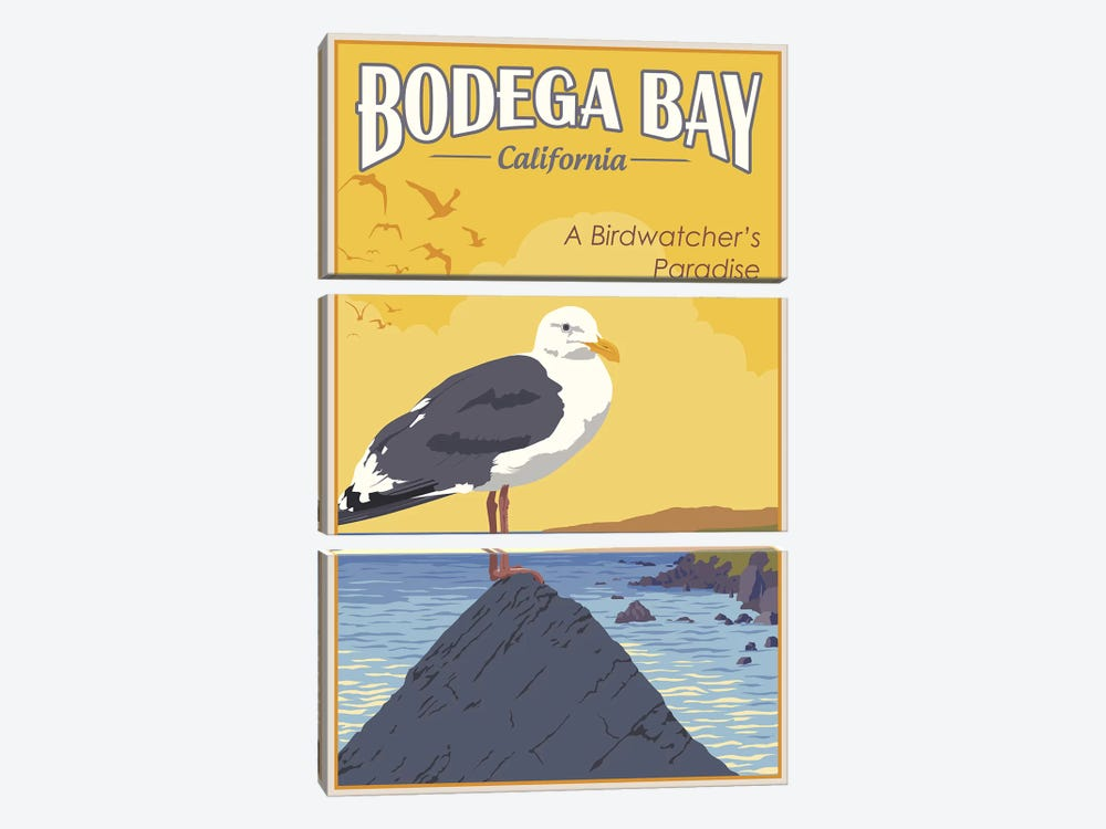 Bodega Bay by Steve Thomas 3-piece Canvas Artwork