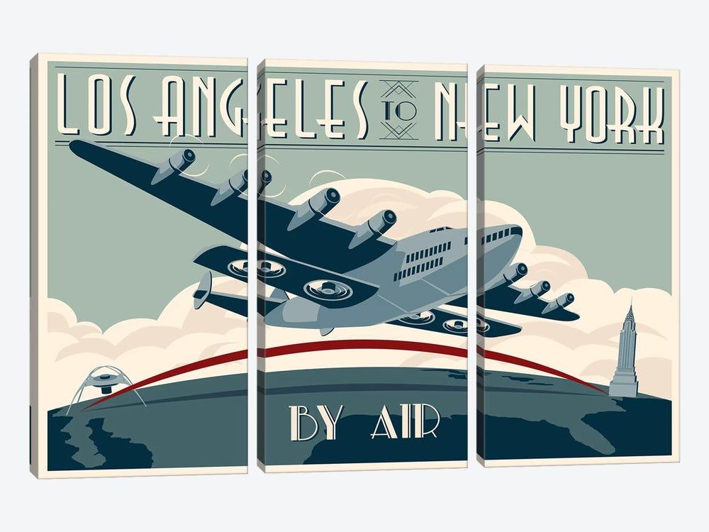 LA To NY Zazzle #2 by Steve Thomas 3-piece Art Print