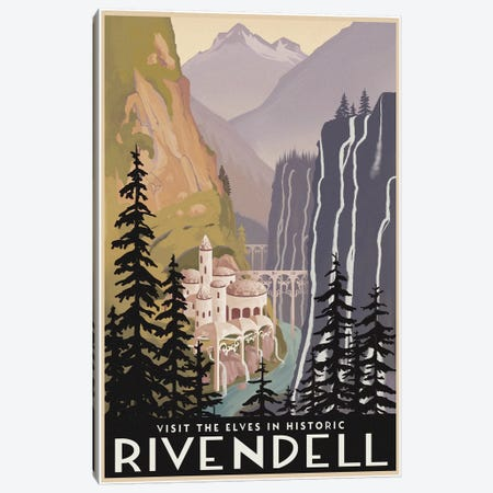 Visit Historic Rivendell Canvas Print #15552} by Steve Thomas Canvas Art