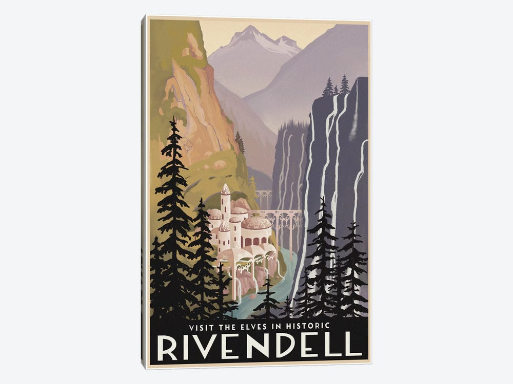 Visit Historic Rivendell 1-piece Canvas Art Print