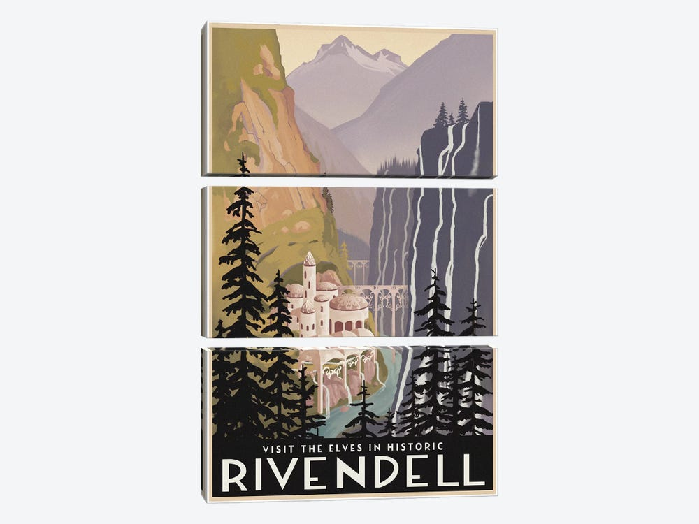 Visit Historic Rivendell 3-piece Canvas Print