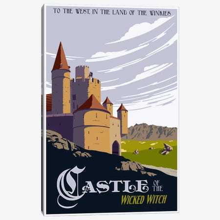 Witche's Castle Travel Canvas Print #15553} by Steve Thomas Canvas Art