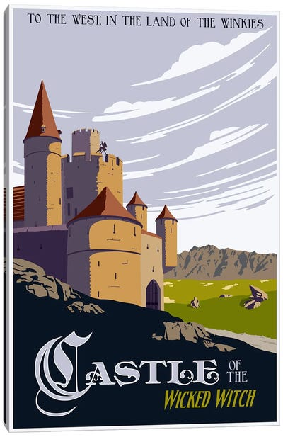 Witche's Castle Travel Canvas Art Print