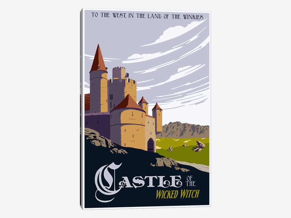 Witche's Castle Travel by Steve Thomas 1-piece Canvas Wall Art