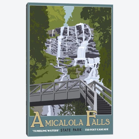 Amicalola Falls Canvas Print #15555} by Steve Thomas Canvas Print