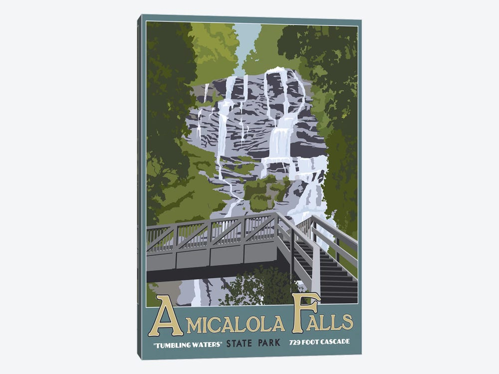 Amicalola Falls by Steve Thomas 1-piece Canvas Art