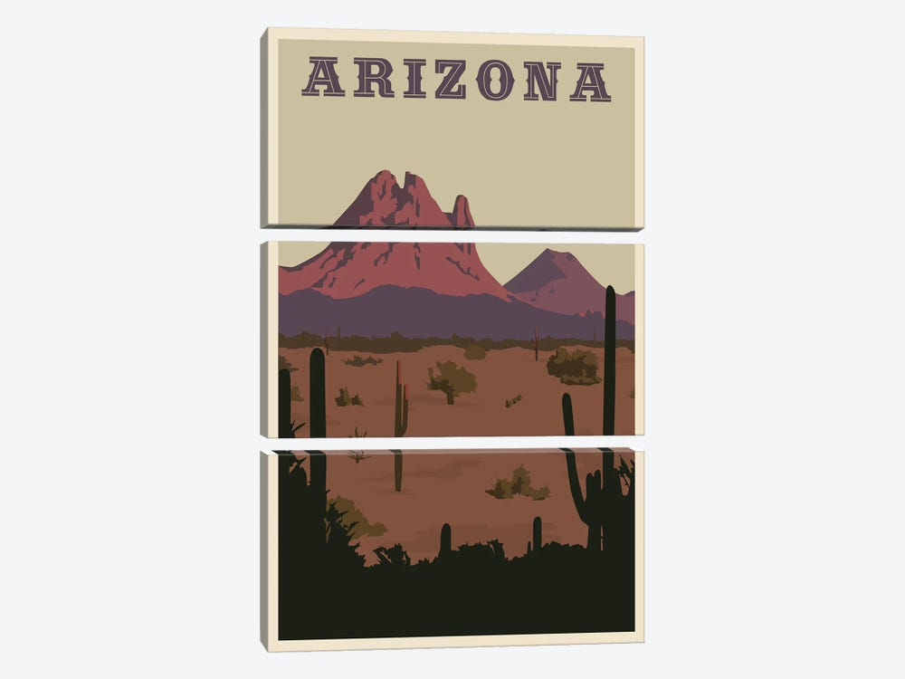Arizona 3-piece Canvas Art Print