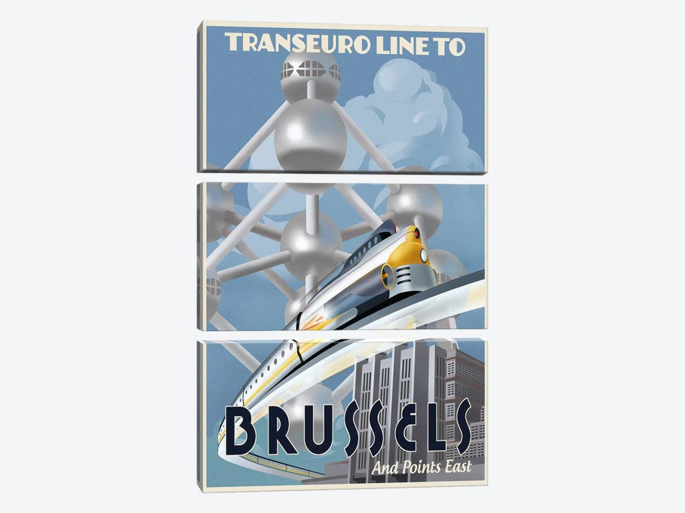 Brussels by Steve Thomas 3-piece Canvas Wall Art