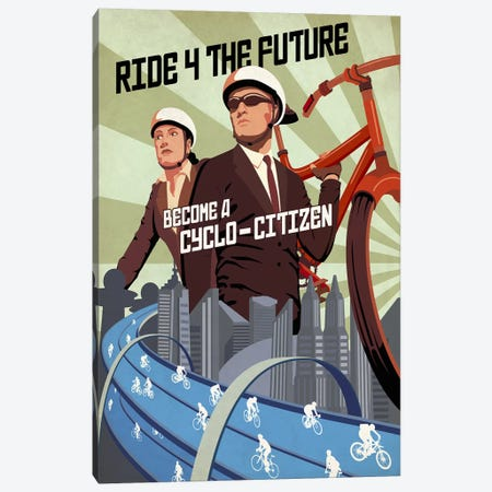 Cyclo Citizen Canvas Print #15558} by Steve Thomas Canvas Art