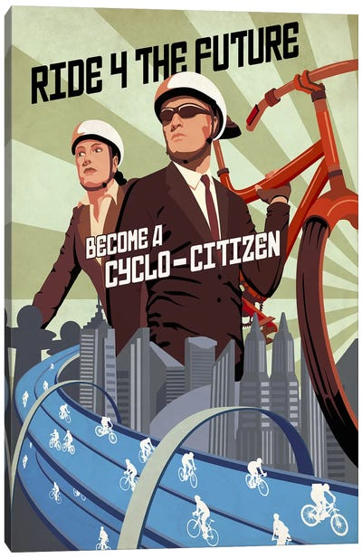 Cyclo Citizen Canvas Art Print