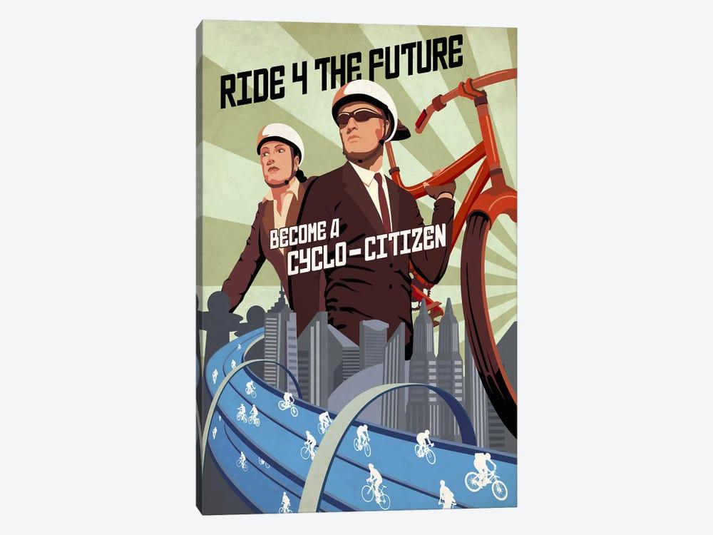 Cyclo Citizen by Steve Thomas 1-piece Canvas Art Print