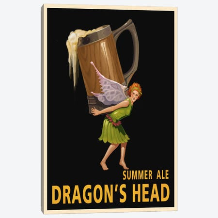 Dragon's Head Ale Canvas Print #15559} by Steve Thomas Canvas Artwork