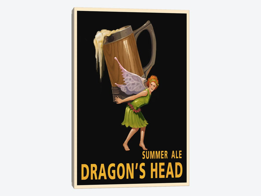 Dragon's Head Ale by Steve Thomas 1-piece Canvas Wall Art