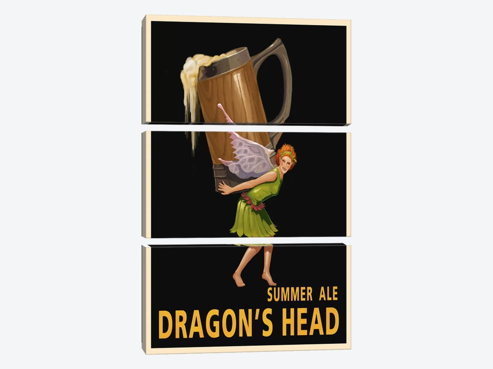 Dragon's Head Ale by Steve Thomas 3-piece Canvas Art