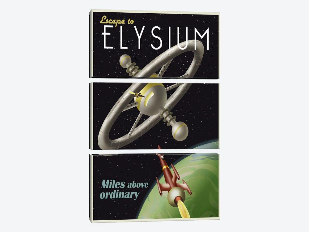 Elysium by Steve Thomas 3-piece Canvas Artwork